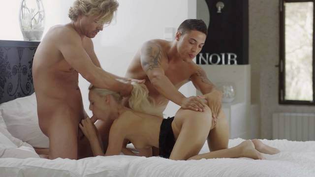 Perfect MMF threesome and hardcore sex